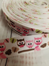 Load image into Gallery viewer, Cute owls, Grosgrain ribbon, hair bows,  crafting - My Other Child