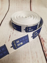 Load image into Gallery viewer, Dr. Who, Tardis, Grosgrain ribbon, hair bows,  crafting - My Other Child