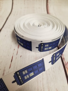 Dr. Who, Tardis, Grosgrain ribbon, hair bows,  crafting - My Other Child