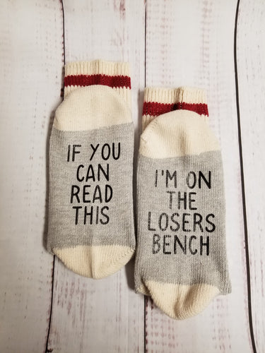 Weight Loss socks,  losers bench socks - My Other Child