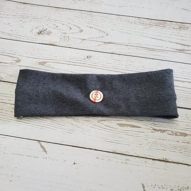 Headband with buttons for face mask elastics - My Other Child