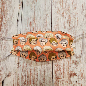 Adult Size Face Mask - Golden Girls - wired nose/filter opening - My Other Child