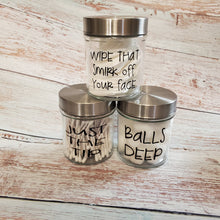 Load image into Gallery viewer, Funny Bathroom Jars set of 3