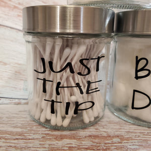 Funny Bathroom Jars set of 3