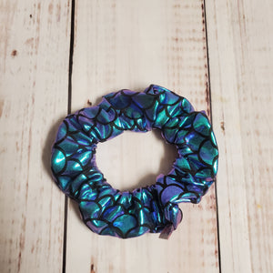 Scrunchie - Purple Mermaid Scales