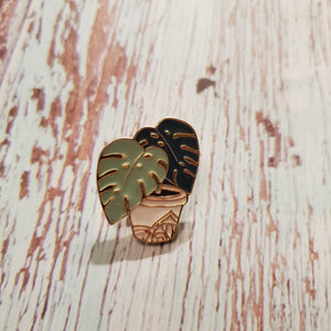 Enamel Pin - Monstera Plant