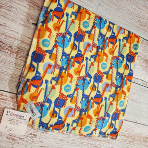 XL Flannel Receiving Blanket | Swaddle Blanket | Giraffes