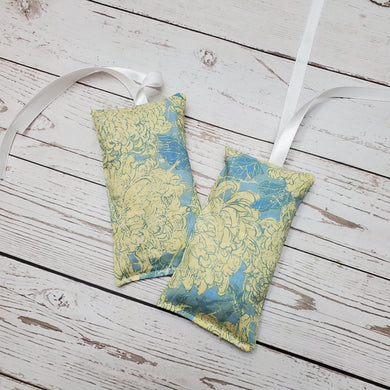 Lavender Pouch air freshener | Blue with Yellow Flowers