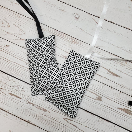 Lavender Pouch air freshener | Black and White Pattern