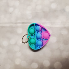 Load image into Gallery viewer, Reusable Bubble Toy Keychain | Pop It | Heart
