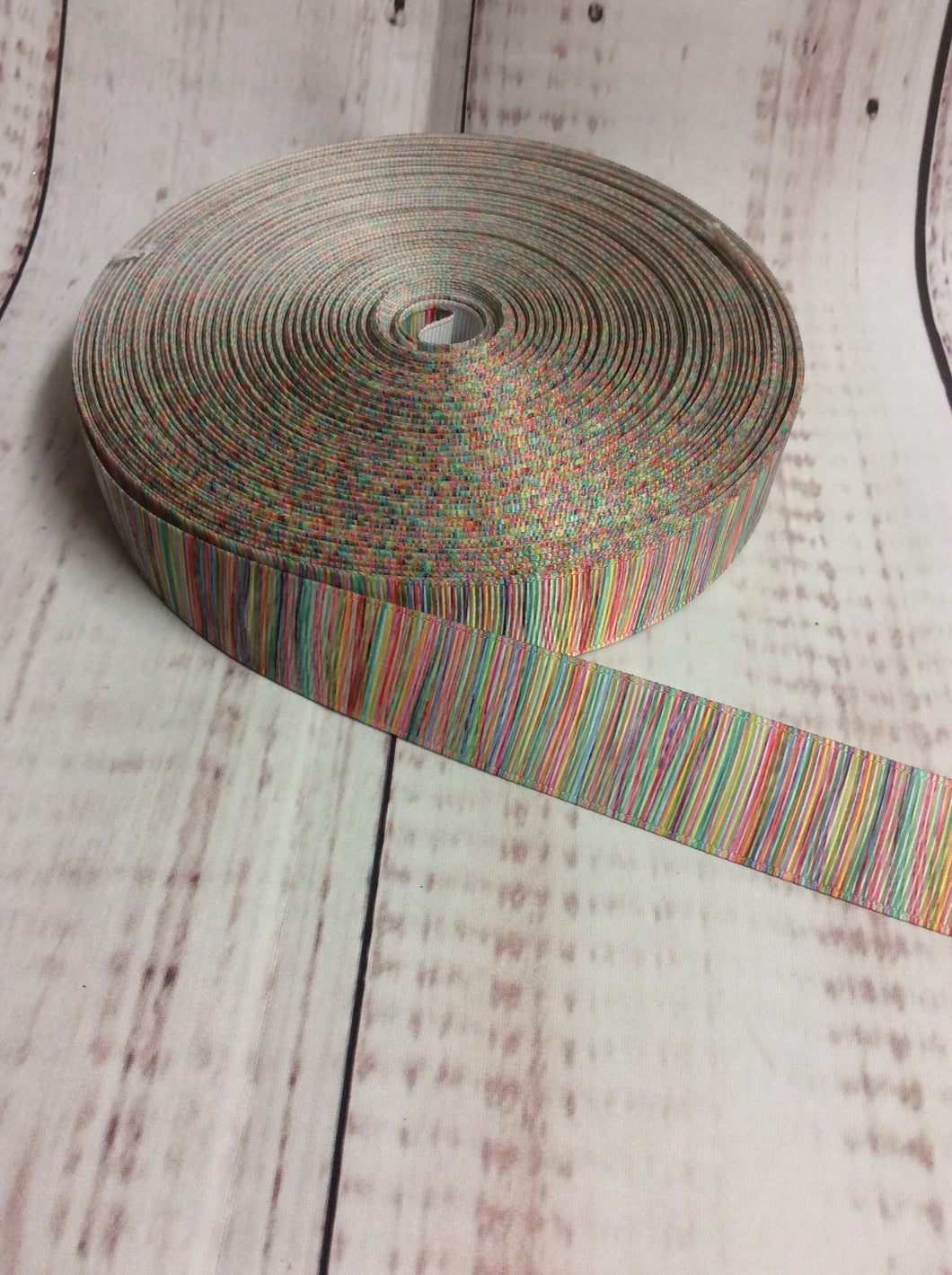 Multi colour striped grosgrain ribbon - My Other Child