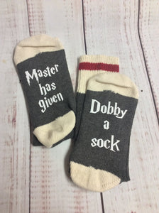 Wizard socks, Master has given Dobby  a sock - My Other Child