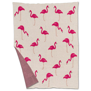 Knit Baby Blanket | Flamingo