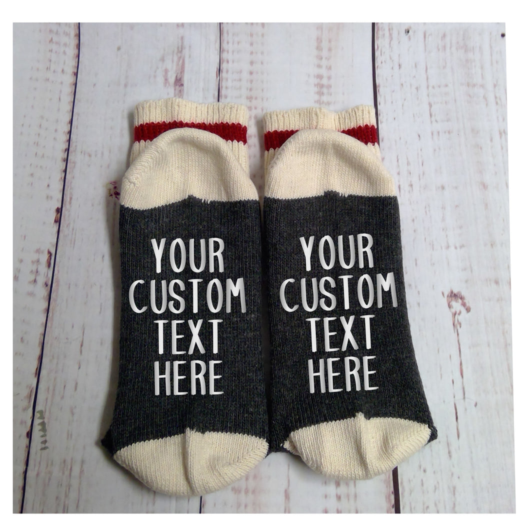 Custom Socks - your words on the socks - My Other Child