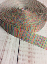 Load image into Gallery viewer, Multi colour striped grosgrain ribbon - My Other Child