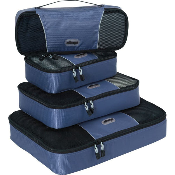 eBags Packing Cubes For Travel - 4pc Classic Plus Set 4 Colours Available
