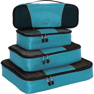 eBags Packing Cubes - 4pc Classic Plus Set (Aquamarine)