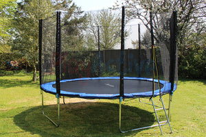 PlayActive UV Resistant Trampoline With Safety Enclosure, Spring Cover, Jump Mat, Shoe Bag, Ladder And Cover - 8ft