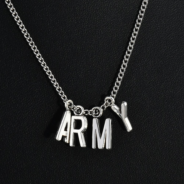 Fashionable Necklace Boys ARMY Necklace Pendant Charms Jewelry Ideal Gift For Men And Boys