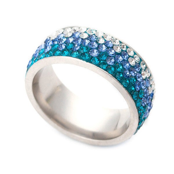 Crystal Fashion Jewelry Ring Fashion Stainless Steel Ring For Women