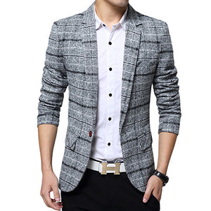 Men's Fashionable Casual Slim Spring Jacket Suit Blazer Jacket Men
