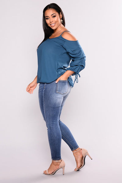 Women's Plus Size High Waist Ripped Hole Skinny Pencil Blue Washed Denim Jeans Big Hip Ladies Jeans Pants