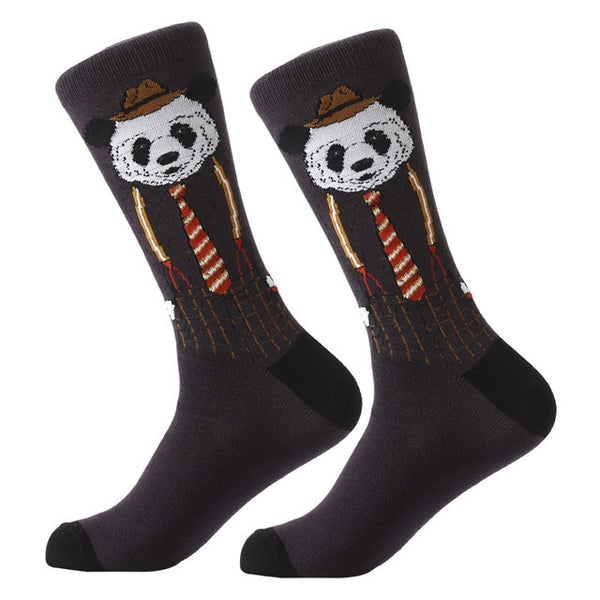 Men Women Animal Alien Chili Moustache Sloths Novelty Sock Combed Cotton Funny Crew Socks