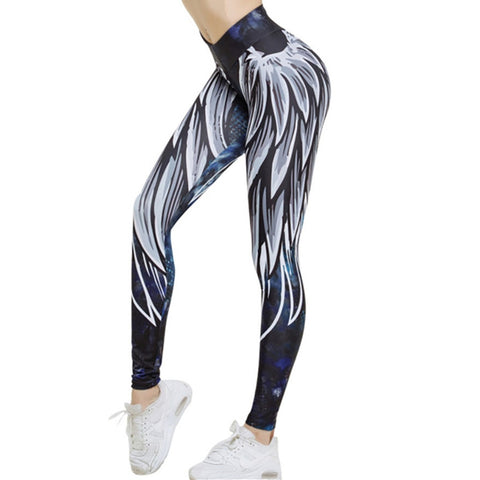 Women 3D Wing Push Up Sporting Fitness Athleisure Body Building Sexy Pants Leggings For Ladies