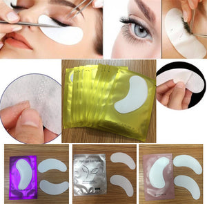Eyelash Extension Pack & Eye Hydrating Make Up Tools Pads, Paper Patches Sticker Wraps Lashes For Eyelash Extension- 100 pairs/pack