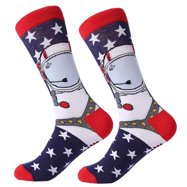 Combed Cartoon  Cotton  Animal Novelty Funny Socks For Men & Women - 1 Pair