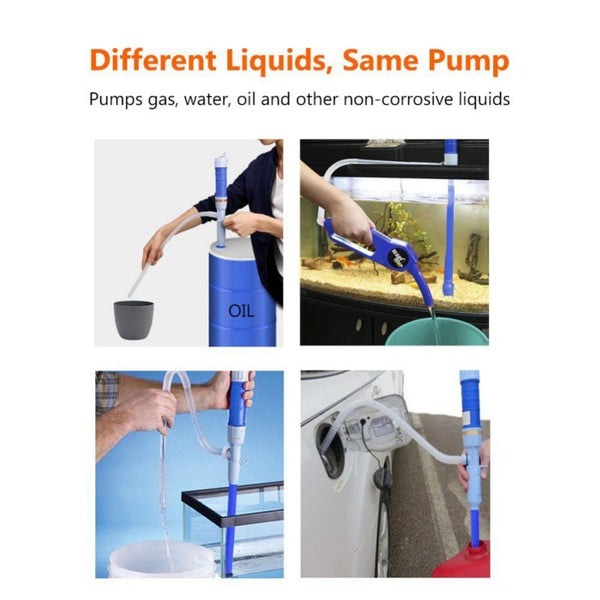 Battery-Operated Liquid Transfer Pump Automatic, Cordless Powered Portable Turbo Pump