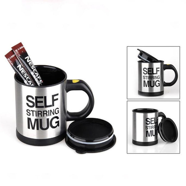 Automatic Electric Lazy Self Stirring Stainless Steel Mug Cup 400ml