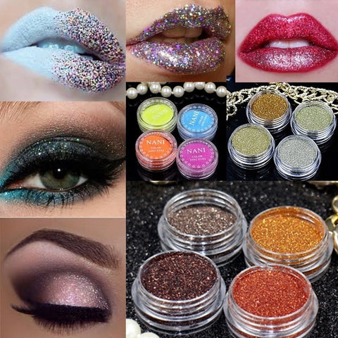 24 Color Natural Bright Crystal Cosmetics Pigment Mineral Glitter Powder