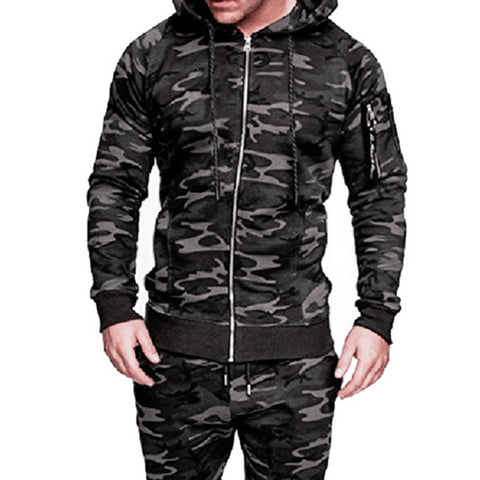 Men's Casual Camouflage Tactical Clothing Military Coat Autumn Camo Printed Slim Fit Zipper Jacket