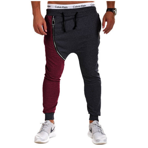 Men's Casual Joggers Sweatpants Splice Pantalones Hombre Harem Pants Jogger Trousers