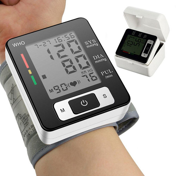 Portable Automatic Digital Wrist  Sphygmomanometer Blood Pressure Monitor Meter And OLED Digital Finger Oximeter