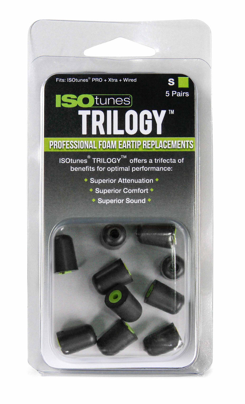 ISOtunes.co.uk Replacement Tips ISOtunes TRILOGY™ Foam Replacement Eartips (5 pair pack)