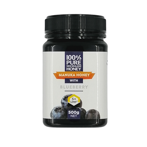 100% Pure New Zealand UMF 5+ Manuka Honey with Blueberry