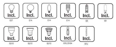 types of bulbs chart