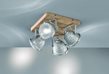 navigare oregon industrial ceiling light with wood trim