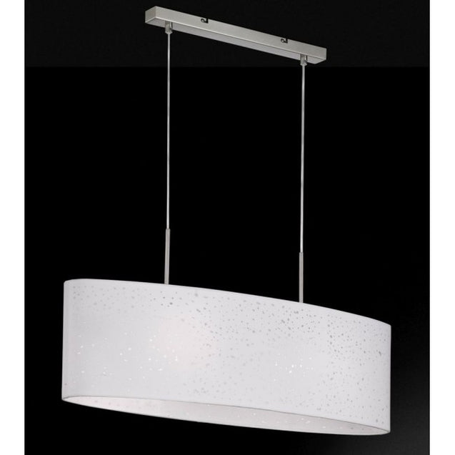 Navigare Missouri Pendant Light 2 Light Source Nickle Matt