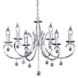 Navigare Virginia Chandlier 6 Light Source Chrome