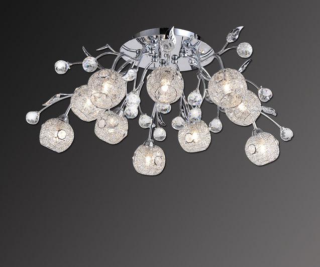 Navigare Walton Ceiling Light 10 Light Source Chrome