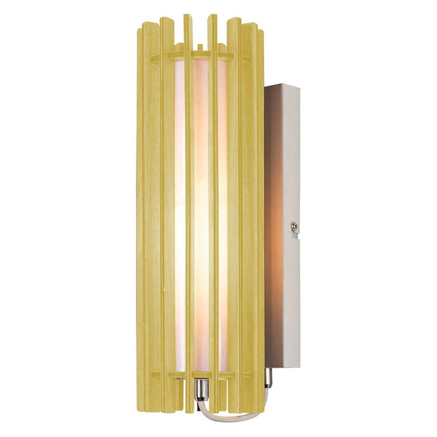 Action Jardin Wall Light with Wooden Shade