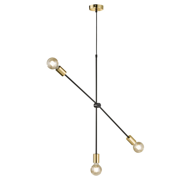 Wofi Sara Pendant Light 2 Black/Gold