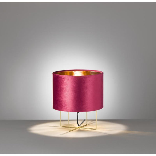 Navigare Alaska Table Lamp 1 Light Source Gold And Velvet Red
