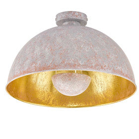 Wofi Mona Grey & Gold Ceiling Light