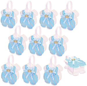 24 x Blue baby rompers favour boxes small sweets box gift for boy baby shower little boy birthday