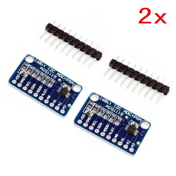 2 x CJMCU-ADS1115 Mini 16 Byte Precision Analog-to-Digital Converter ADC Development Board Module