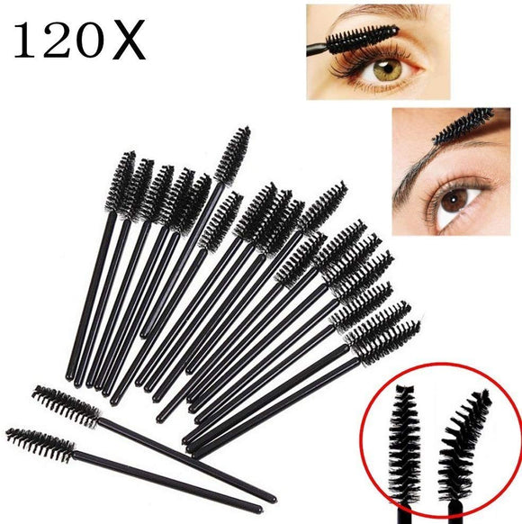 120 x Disposable eyelash brushes mascara brush eyebrow wands makeup applicator for make up